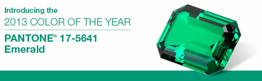 Pantone Emerald 2013