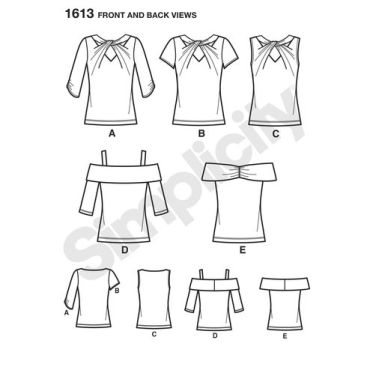 simplicity-tops-vests-pattern-1613-front-back-view
